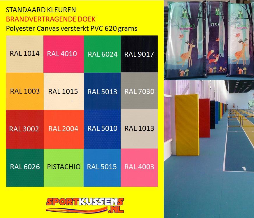 PVC doek Brandvertragend, standaard kleuren
