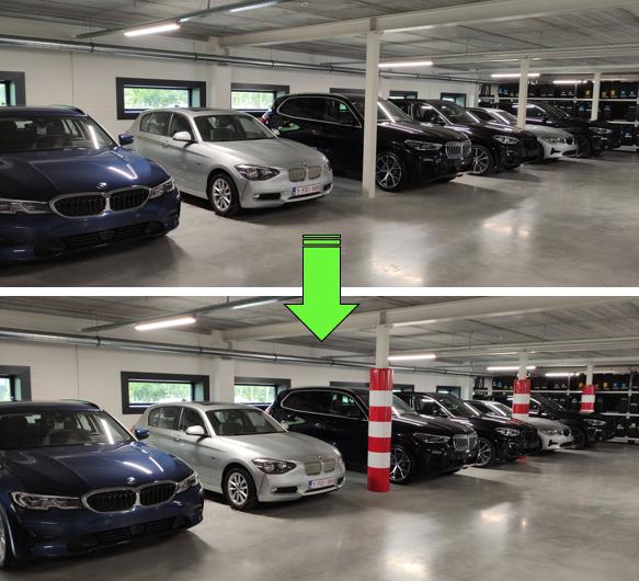 Paalbeschermer BMW dealer